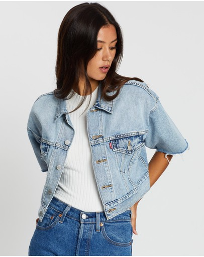 Levi's - Short Sleeve Crop Dad Trucker