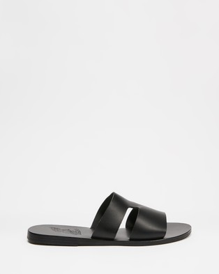 Ancient Greek Sandals - Apteros (Black)