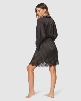 Pilgrim Cleo Satin Robe - Sleepwear (Black)