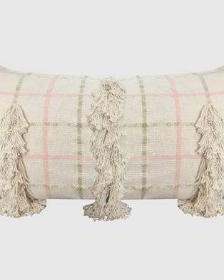 Langdon Fleur Cushion Rectangle - Home (Cream)