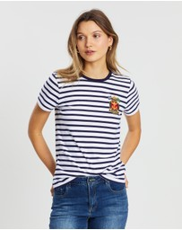 Polo Ralph Lauren - Stripe Embroidered SS T-Shirt
