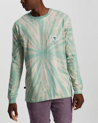 Stussy - Stussy Wear LS Tie Dye Tee - T-Shirts & Singlets (Turquoise) Stussy Wear LS Tie-Dye Tee