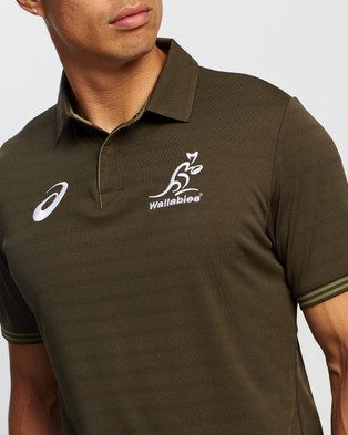 ASICS Training Polo - Rugby Union (Brownstone)