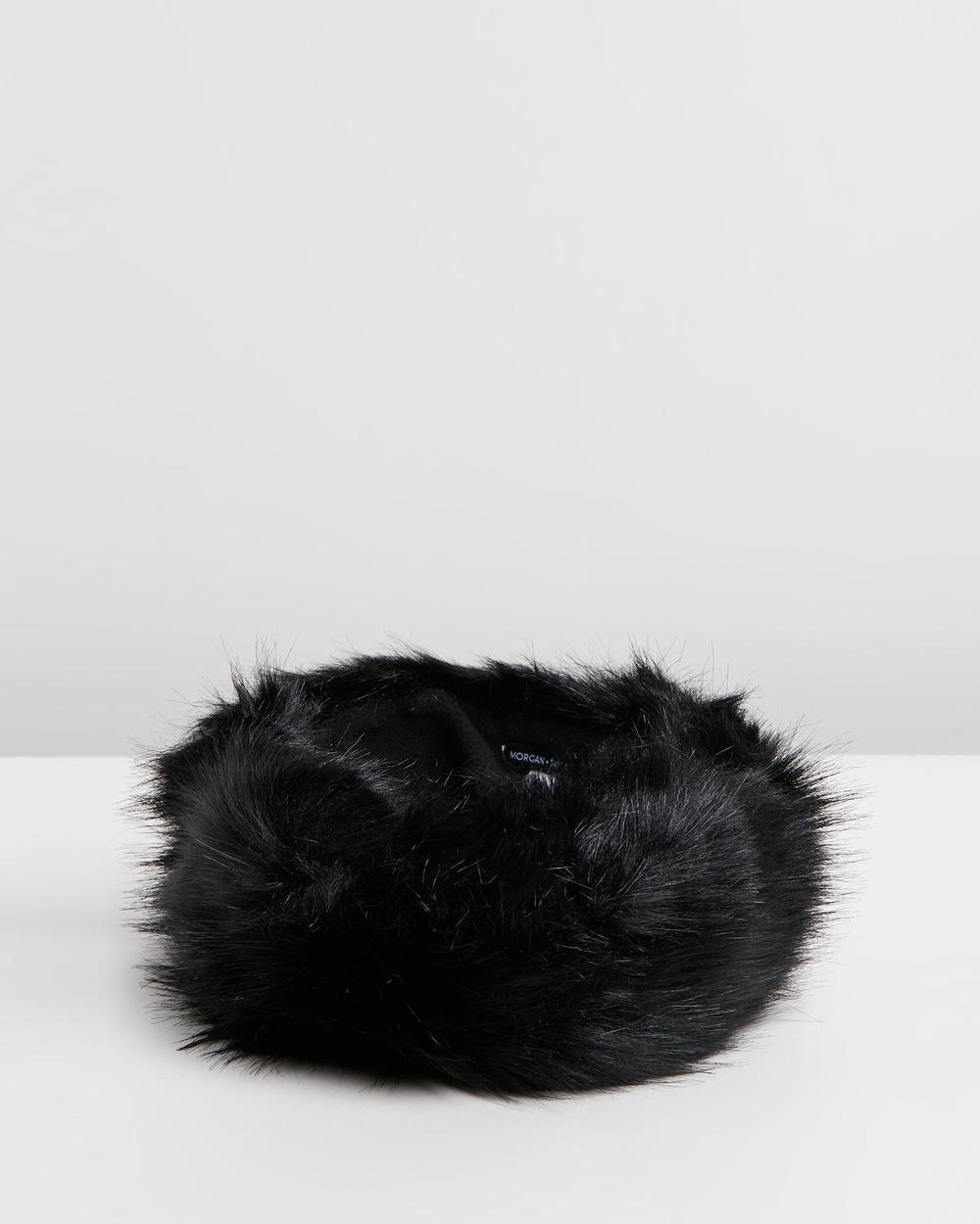 Morgan & Taylor Xenia Headband Hair Black