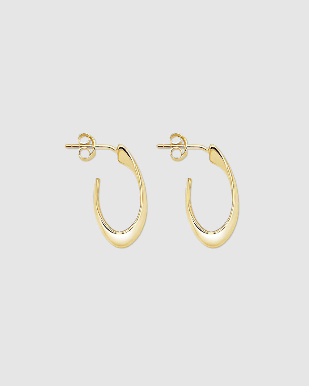 Ichu Mini Hooked Hoops Jewellery Gold