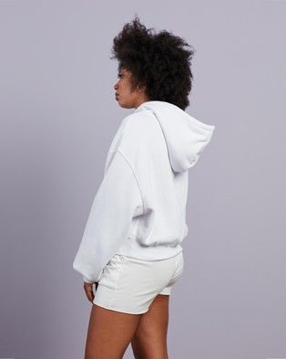 Factorie - Athluxe Slouchy Cropped Hoodie Hoodies (White)