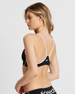 Speedo Endurance+ Crop Top - Bikini Tops (Black & White)