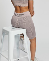 Calvin Klein Performance - Thick Rib High Waist Bike Shorts