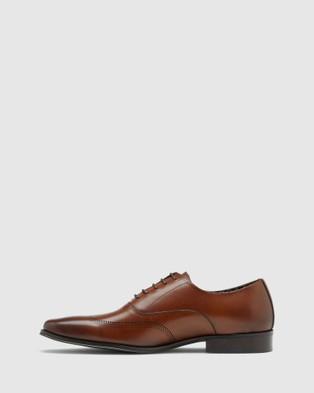 Oxford Stefan Leather Brogue Shoe - Dress Shoes (Brown)