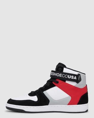 DC Shoes Mens Pensford Hi Top Shoe - Sneakers (Black/Grey/Red)