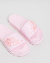 Fila - Drifter Embroidery Slides - Women's