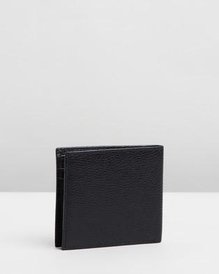 Armani Exchange - Leather Bifold Credit Wallet Wallets (Black)