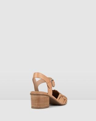 Jo Mercer Silvana Low Heels - Mid-low heels (TAN LEATHER)