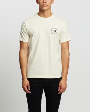Brixton - Fender Highway SS Standard Tee T-Shirts & Singlets (Off White)