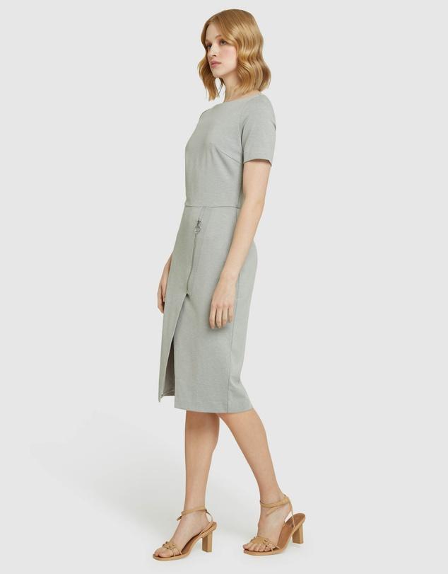Women Twyla Ponti Zip Detail Dress