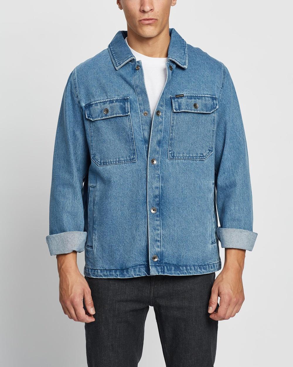 Volcom Likeaton Jacket Denim jacket Blue