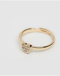 Mestige Kids - Heart Beat Ring With Swarovski Crystals