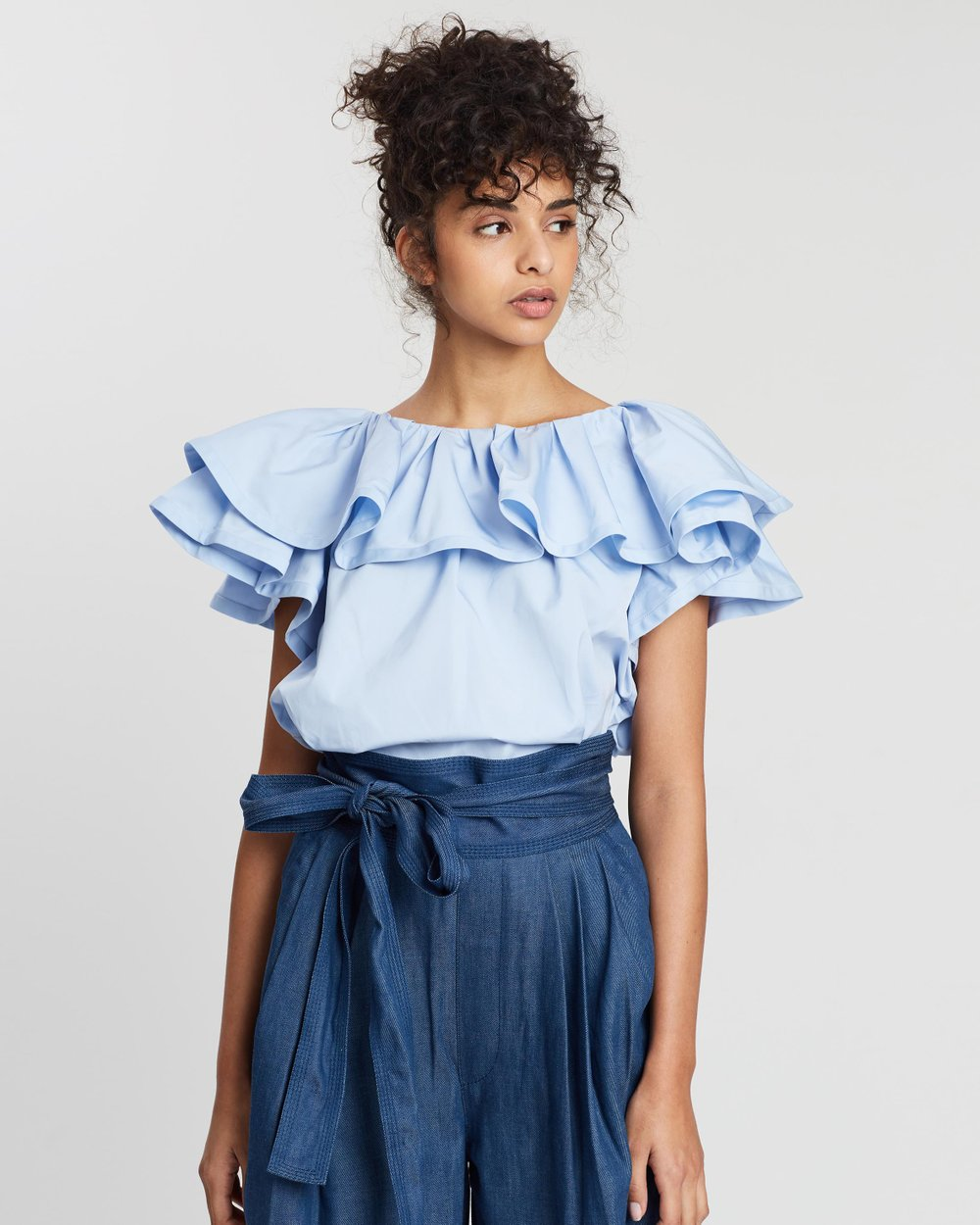 2cb3bb4daf31a4 Short Sleeve Ruffle Blouse by Marc Jacobs Online | THE ICONIC | Australia