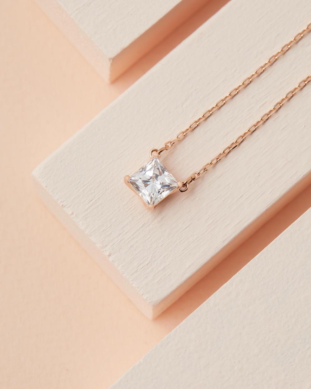 Swarovski Attract Necklace Jewellery Rose Gold