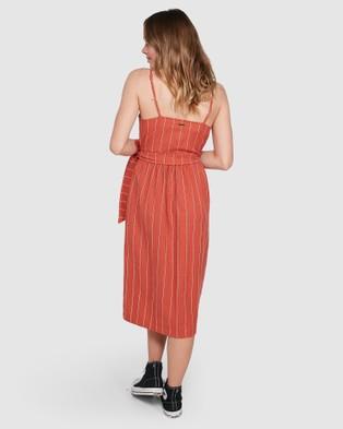 Element Sundays Dress - Dresses (RED RUST)