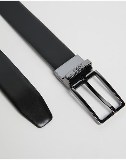 Boss Leather Buckle Belt Black