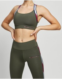 Tommy Hilfiger - Low Support Signature Tape Sports Bra