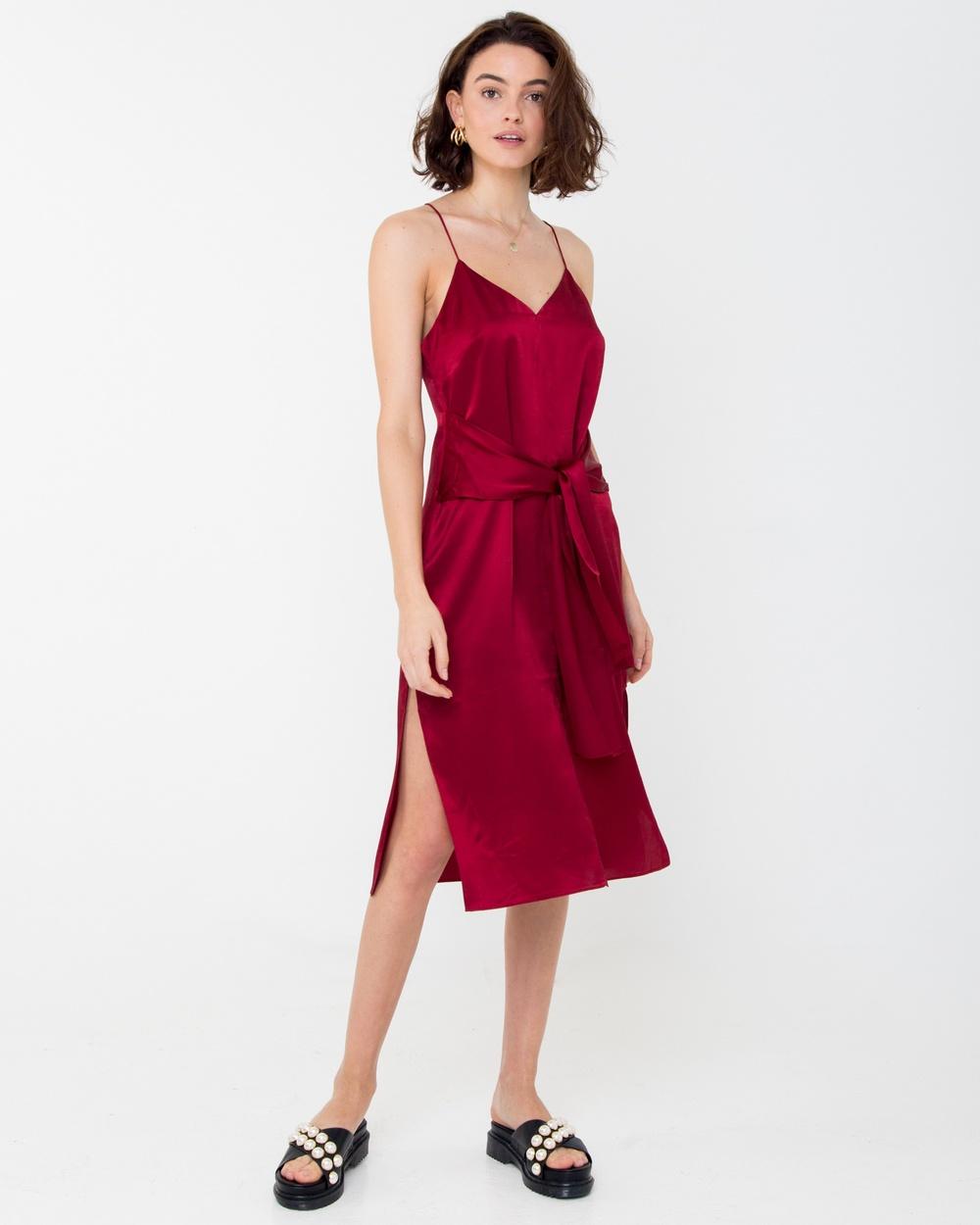 Carver Elle Midi Dress Bridesmaid Dresses Red Elle Midi Dress