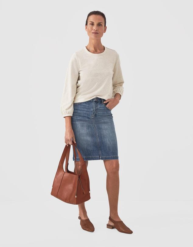Women Classic Denim Skirt