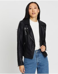 ONLY - Gemma Faux-Leather Biker Jacket