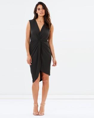 Atmos & Here – Esteem Twist Front Stretch Dress – Dresses (Khaki)