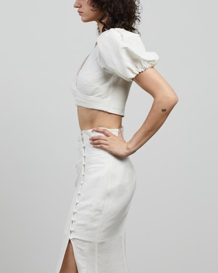 Significant Other Camilla Top - Cropped tops (Ivory)
