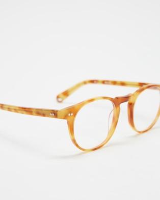 Pacifico Optical Buckler Blonde Havana & Blue Light Lenses