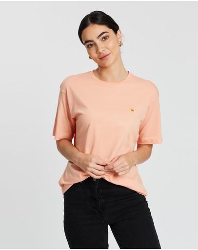 Carhartt Chase T-shirt Peach & Gold
