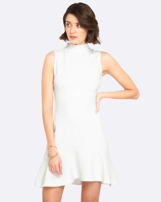 Oxford – Allaya Stretch Dress Ivory