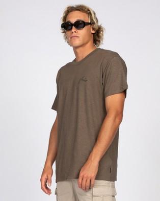 Rusty - One Hit Hemp Short Sleeve Tee - Short Sleeve T-Shirts (GRV) One Hit Hemp Short Sleeve Tee