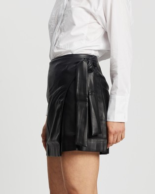M.N.G Fire Skirt - Leather skirts (Black)