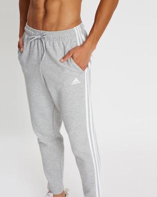 adidas Performance Must Haves 3 Stripes Tapered Pants - Track Pants (Medium Grey Heather)