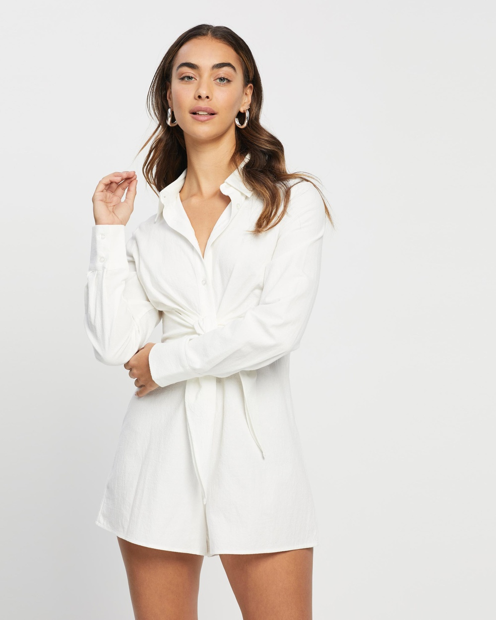 4th & Reckless Bowen Playsuit Jumpsuits Playsuits White