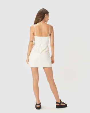 Cools Club Fitted Shift Dress - Dresses (White)