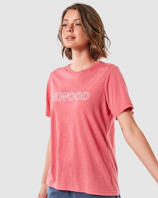 Elwood Charlie Tee - T-Shirts & Singlets (Berry)