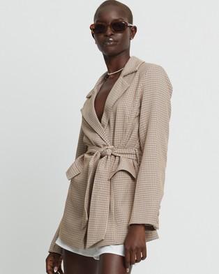 ST MRLO Mykonos Blazer - Suits & Blazers (Yellow Check)