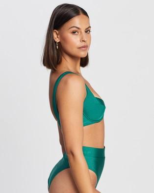Endless - Dreamgirl Underwire Bra Top Bikini Tops (Emerald Green)