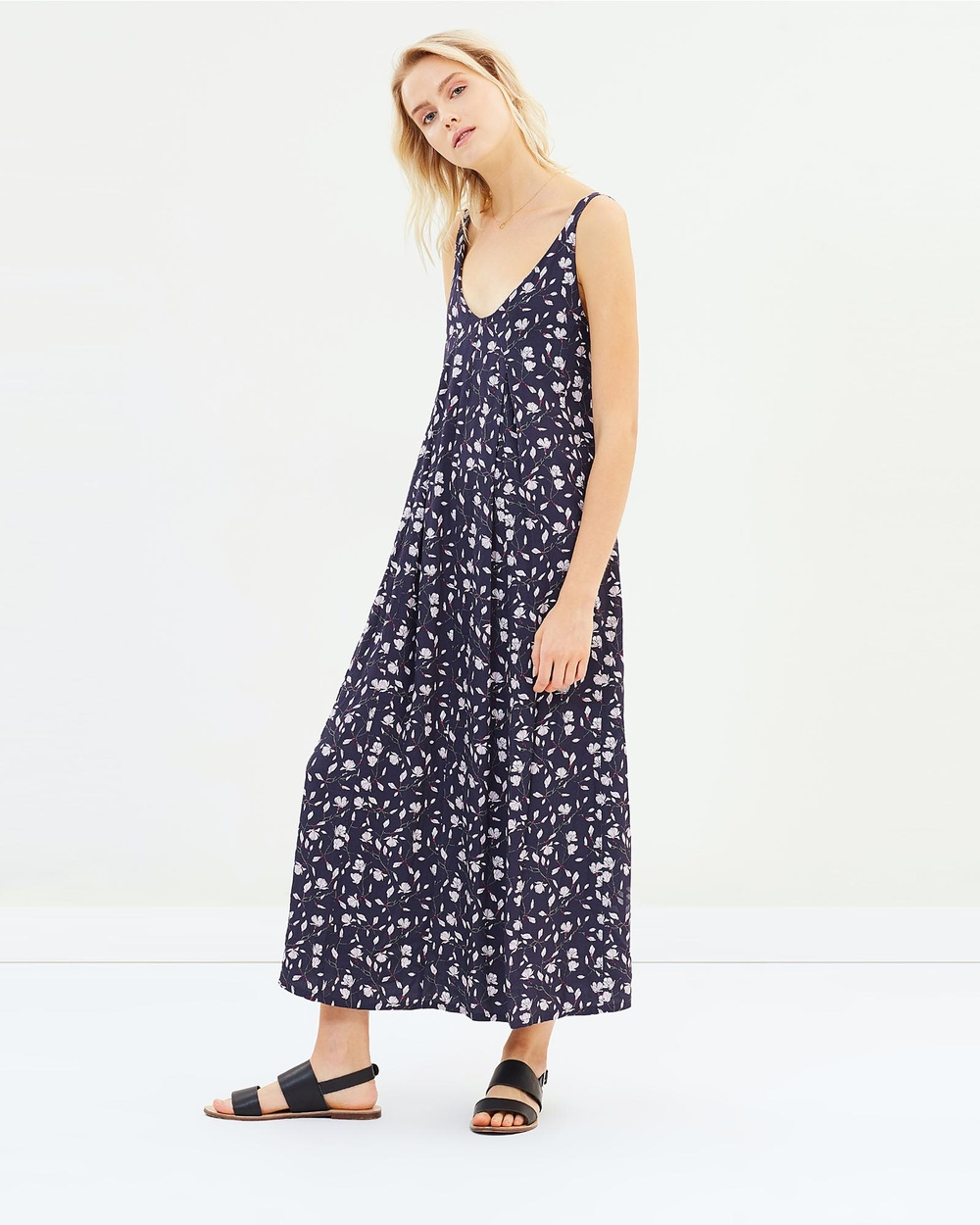 Ryder Remi Printed Dress Dresses Marine Magnolia Remi Printed Dress