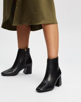 ALDO Layla Leather Ankle Boots - Boots (Jet Black)