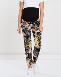 DP Maternity - Tropical Over The Bump Jogger Pants