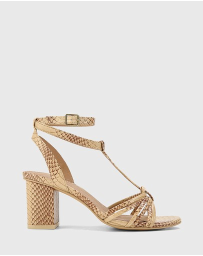 Wittner - Nia Leather Open Toe Block Heel Sandals