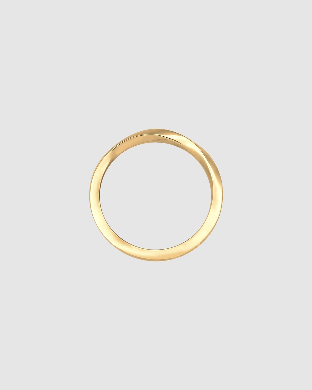 Elli Jewelry Ring Basic Geo 925 Sterling Silver Gold Plated Jewellery Gold