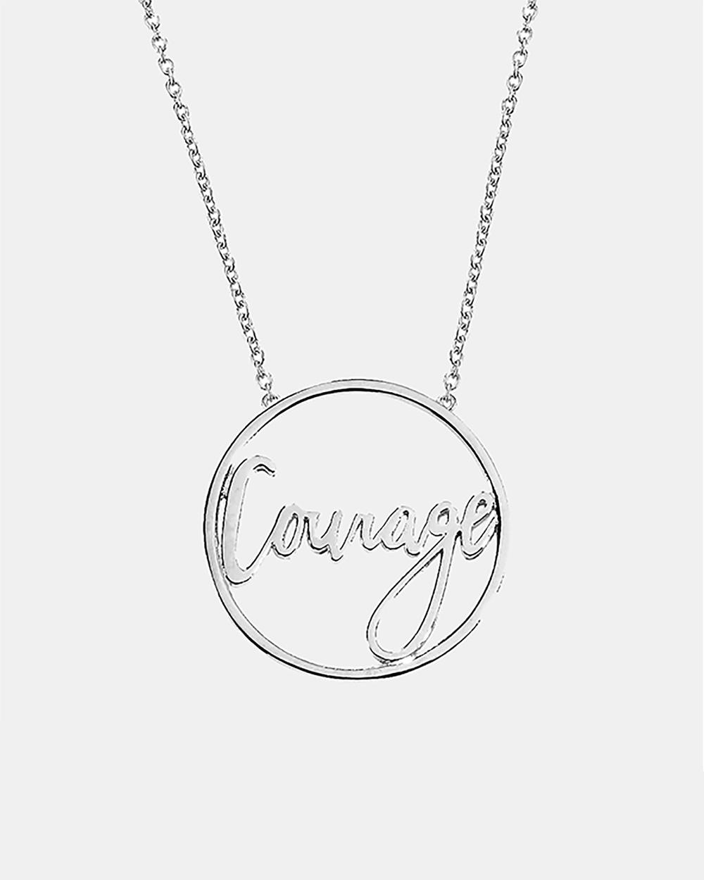 Secret Sisterhood Courage Necklace Jewellery Silver