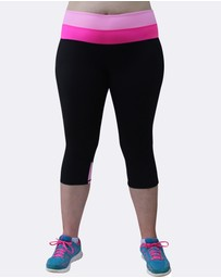 Curvy Chic Sports - Two Tone Sculpt Pocket Tights