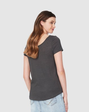 Soon Maternity Perfect Linen Feeding T shirt - Short Sleeve T-Shirts (charcoal)